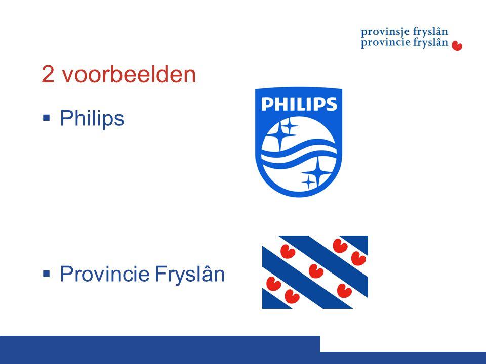 2 voorbeelden Philips Provincie Fryslân