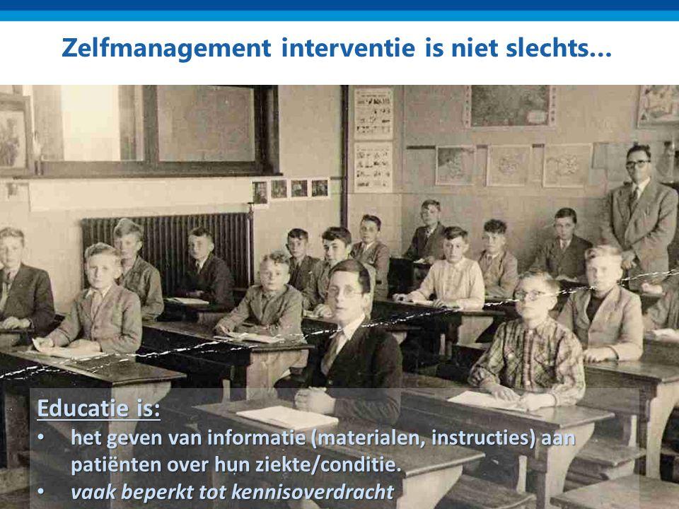 Zelfmanagement interventie is niet slechts…