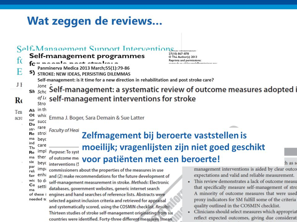 Wat zeggen de reviews… Klein maar significant effect na 6 maanden op: