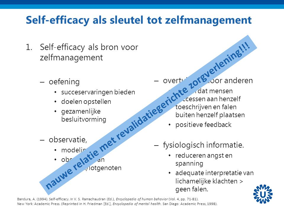 Self-efficacy als sleutel tot zelfmanagement