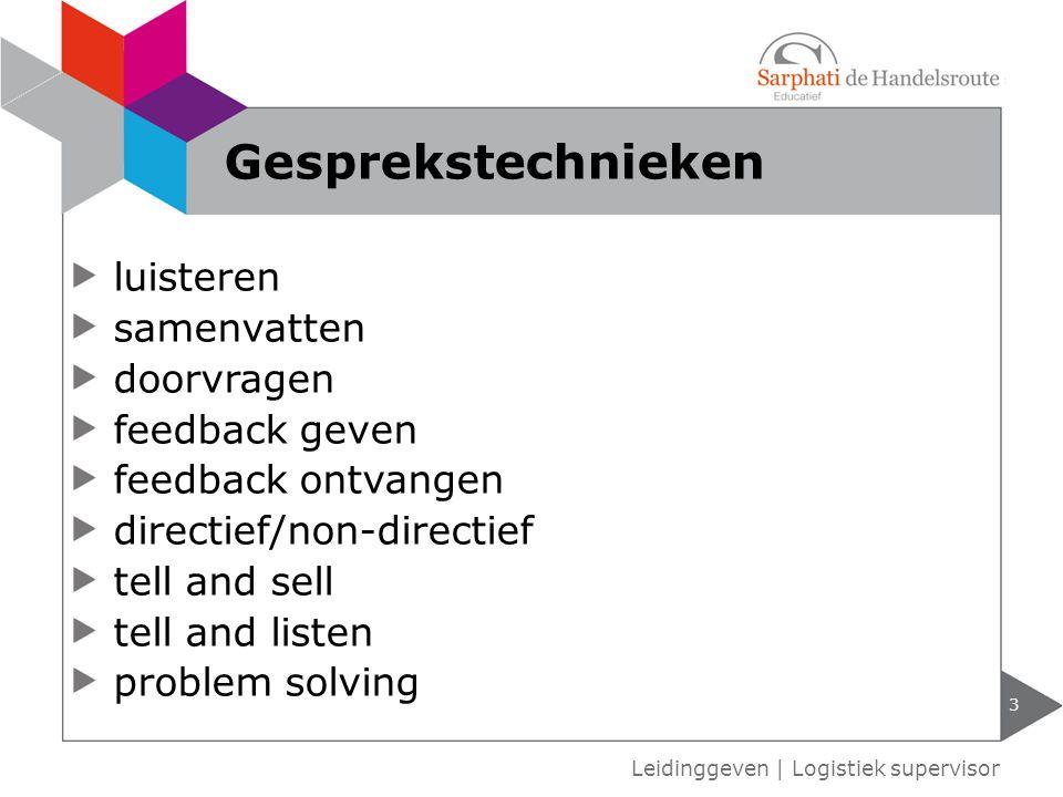 Gesprekstechnieken luisteren samenvatten doorvragen feedback geven