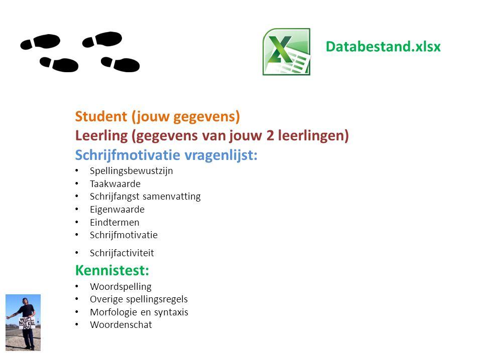 Student (jouw gegevens) Leerling (gegevens van jouw 2 leerlingen)