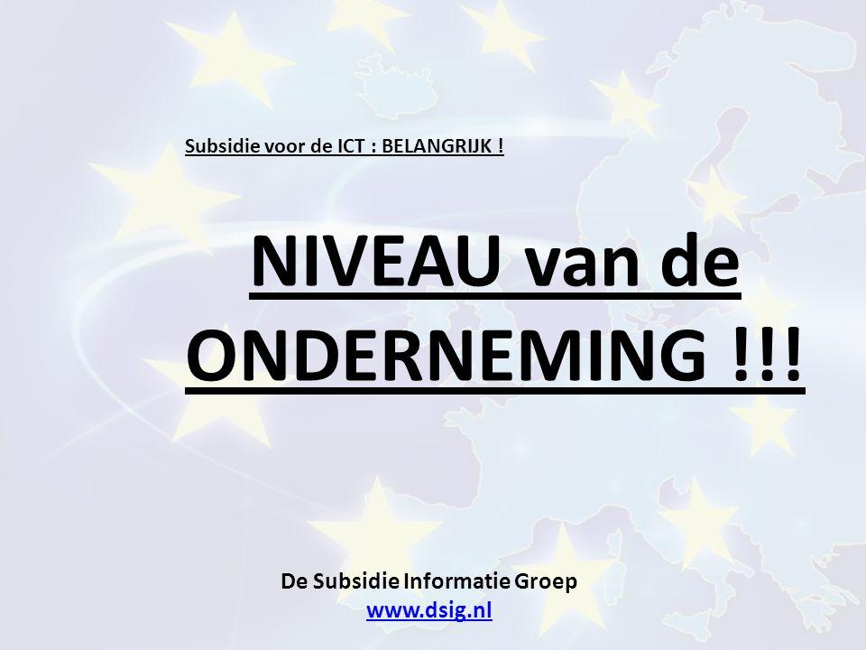 De Subsidie Informatie Groep www.dsig.nl