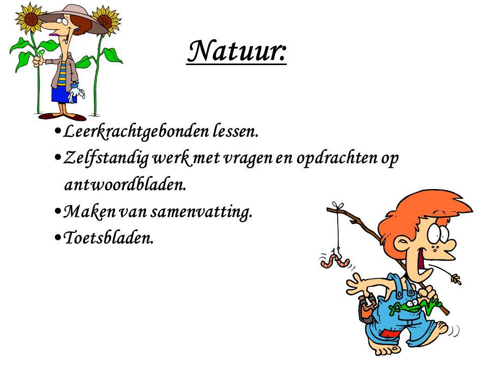 Natuur: Leerkrachtgebonden lessen.