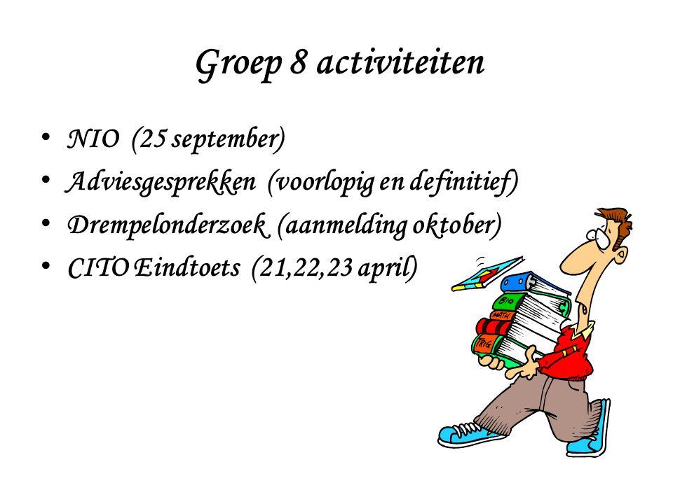 Groep 8 activiteiten NIO (25 september)