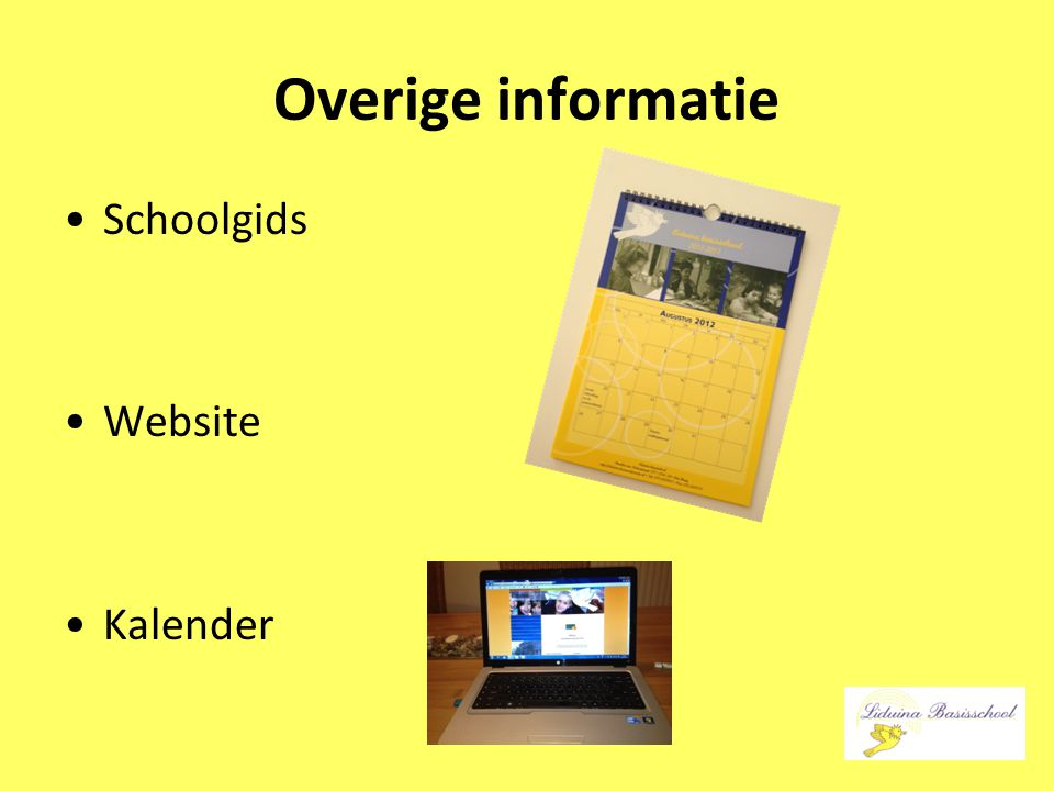 Overige informatie Schoolgids Website Kalender