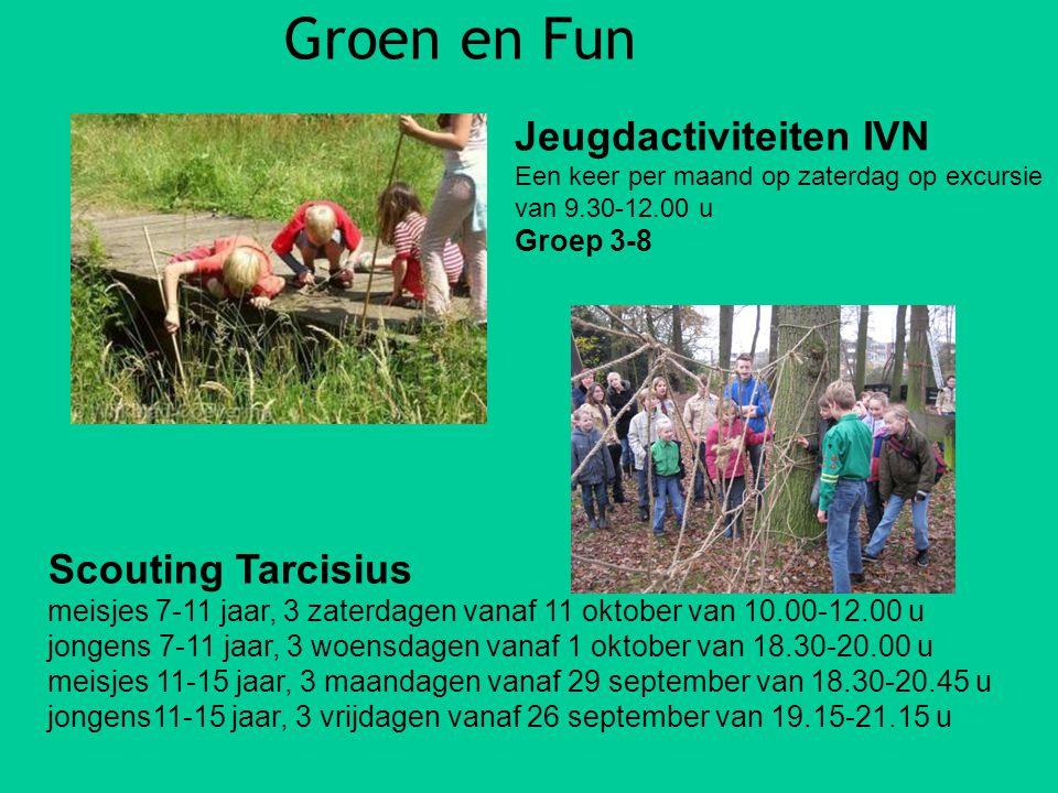 Groen en Fun Jeugdactiviteiten IVN Scouting Tarcisius Groep 3-8