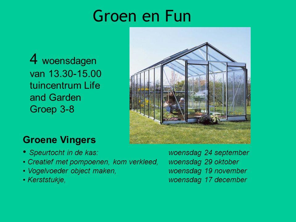 Groen en Fun 4 woensdagen van 13.30-15.00 tuincentrum Life and Garden