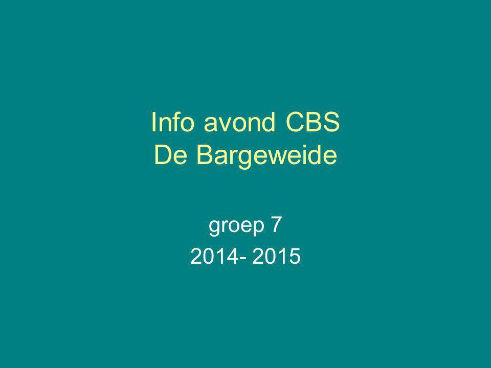 Info avond CBS De Bargeweide
