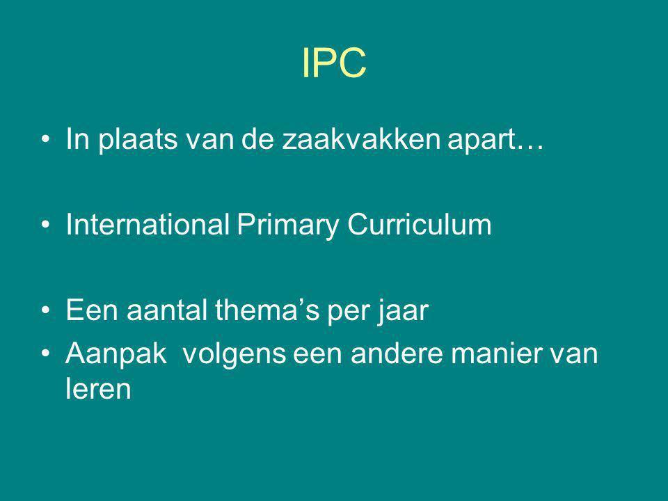 IPC In plaats van de zaakvakken apart…