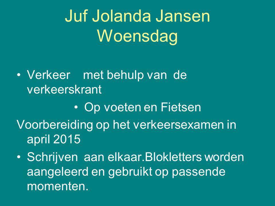 Juf Jolanda Jansen Woensdag