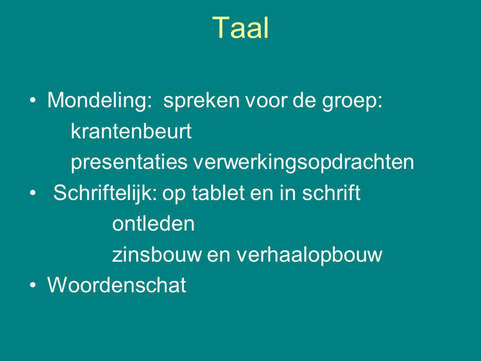 Taal Mondeling: spreken voor de groep: krantenbeurt