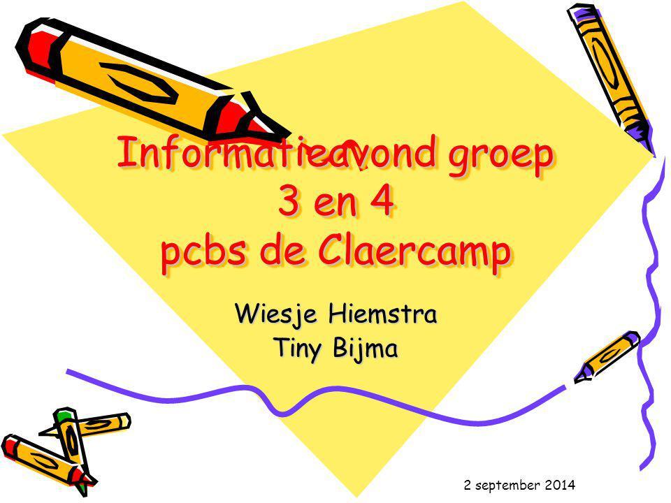 Informatieavond groep 3 en 4 pcbs de Claercamp