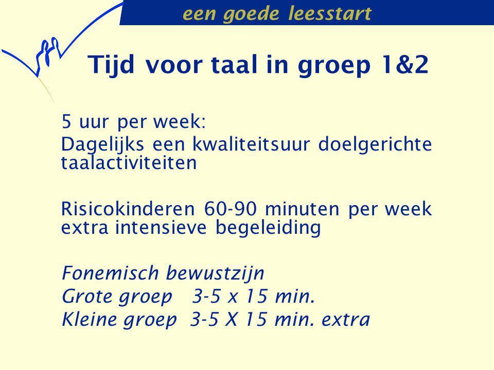 Tijd voor taal in groep 1&2