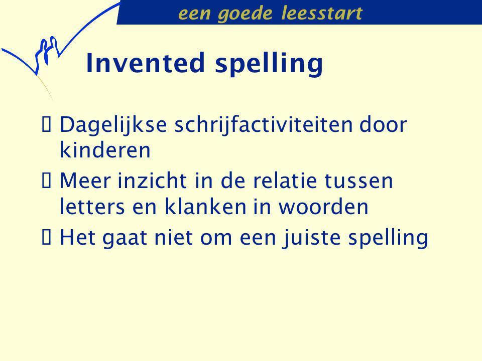 Invented spelling Dagelijkse schrijfactiviteiten door kinderen