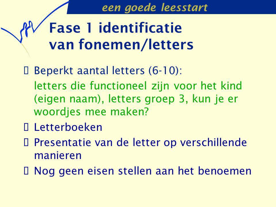 Fase 1 identificatie van fonemen/letters
