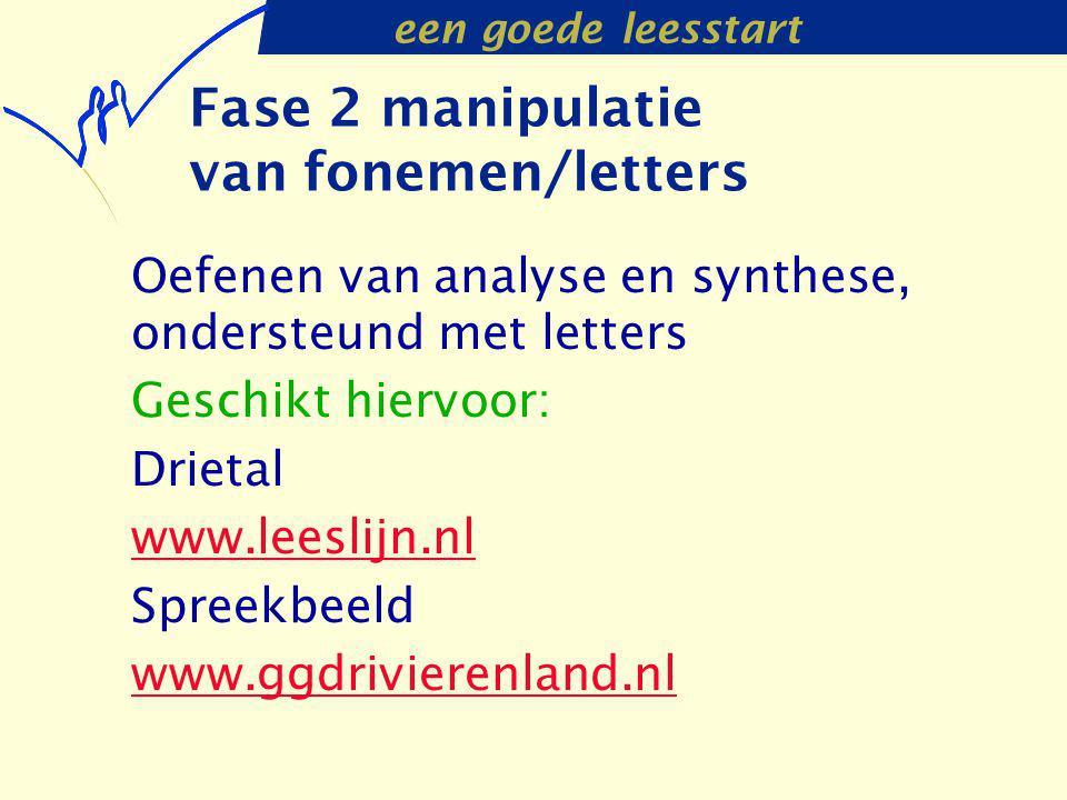Fase 2 manipulatie van fonemen/letters