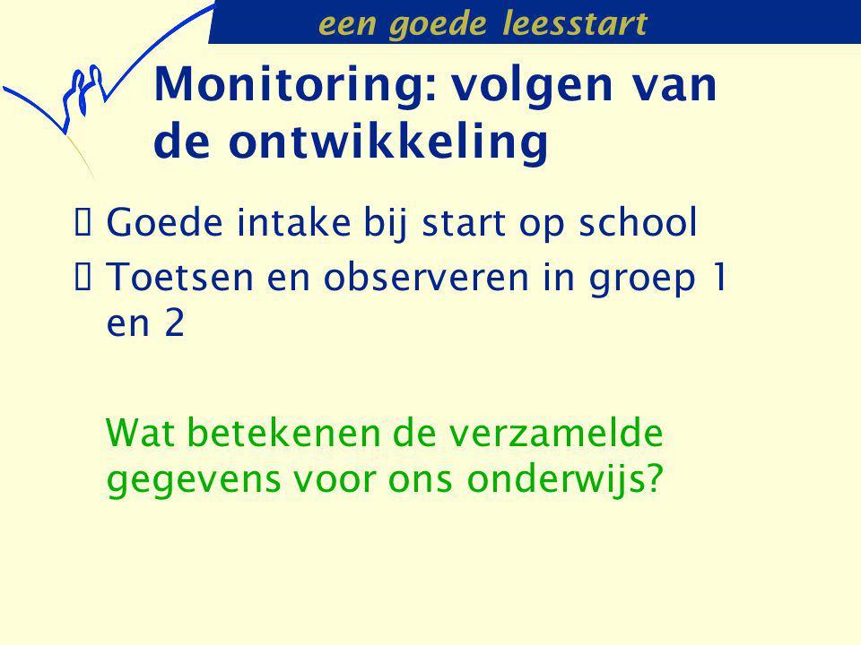 Monitoring: volgen van de ontwikkeling