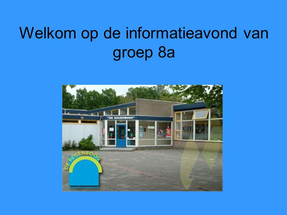 Welkom op de informatieavond van groep 8a