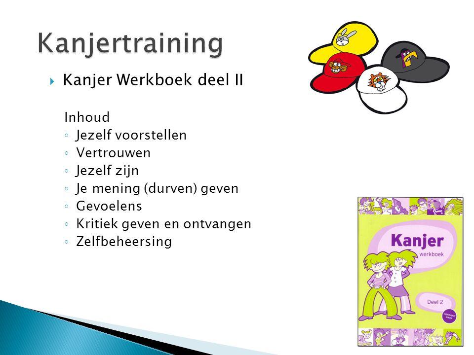 Kanjertraining Kanjer Werkboek deel II Inhoud Jezelf voorstellen