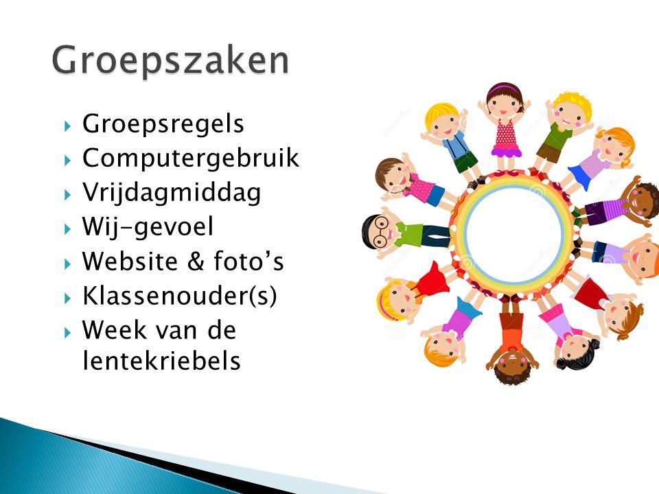 Groepszaken Groepsregels Computergebruik Vrijdagmiddag Wij-gevoel