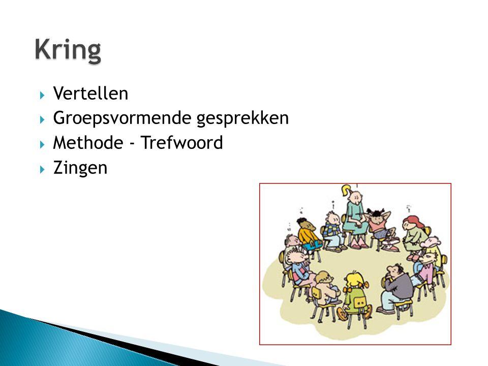 Kring Vertellen Groepsvormende gesprekken Methode - Trefwoord Zingen