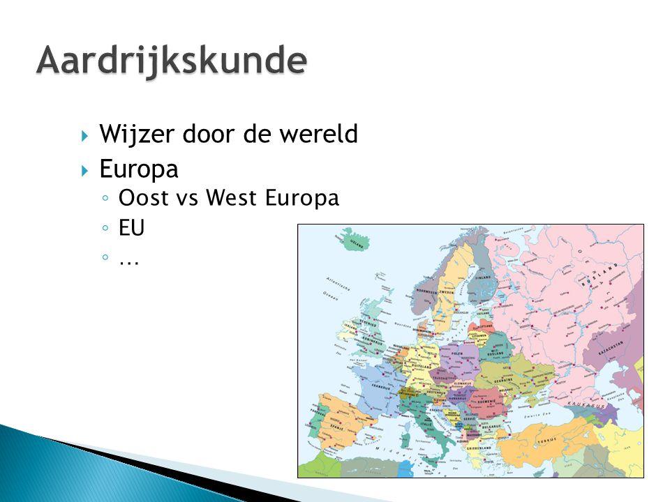 Aardrijkskunde Wijzer door de wereld Europa Oost vs West Europa EU …