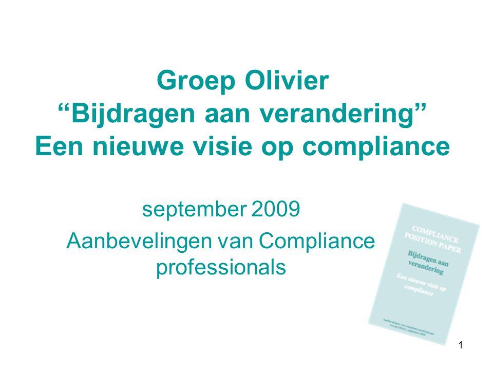 september 2009 Aanbevelingen van Compliance professionals