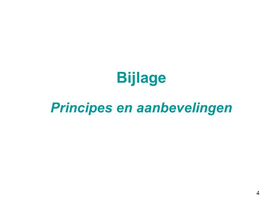 Bijlage Principes en aanbevelingen