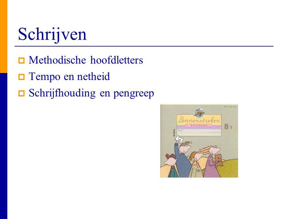 Schrijven Methodische hoofdletters Tempo en netheid