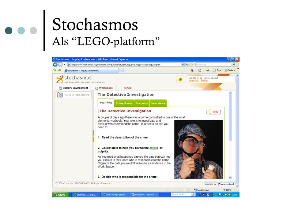 Stochasmos Als LEGO-platform