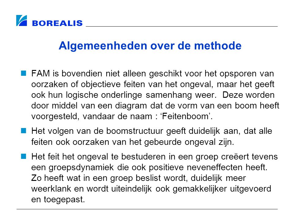 Algemeenheden over de methode