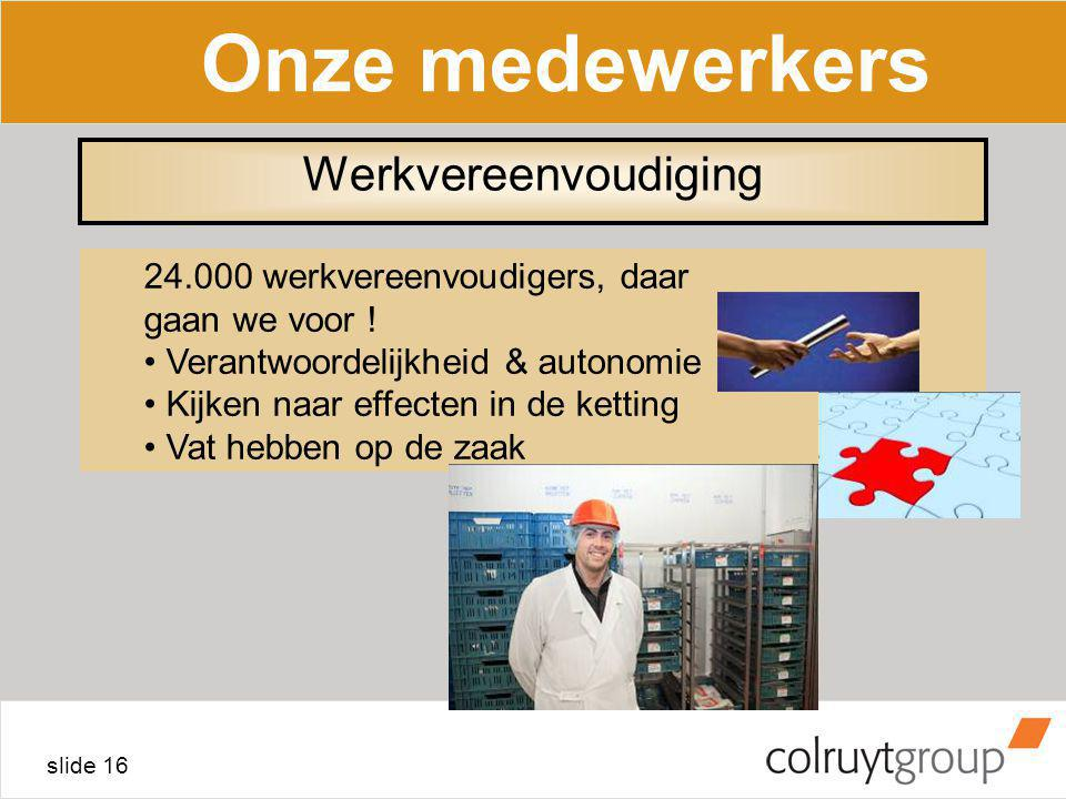 Onze medewerkers Werkvereenvoudiging