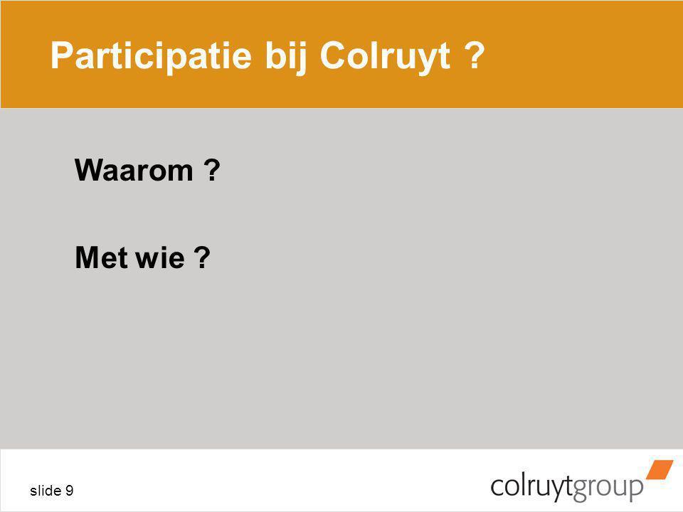 Participatie bij Colruyt