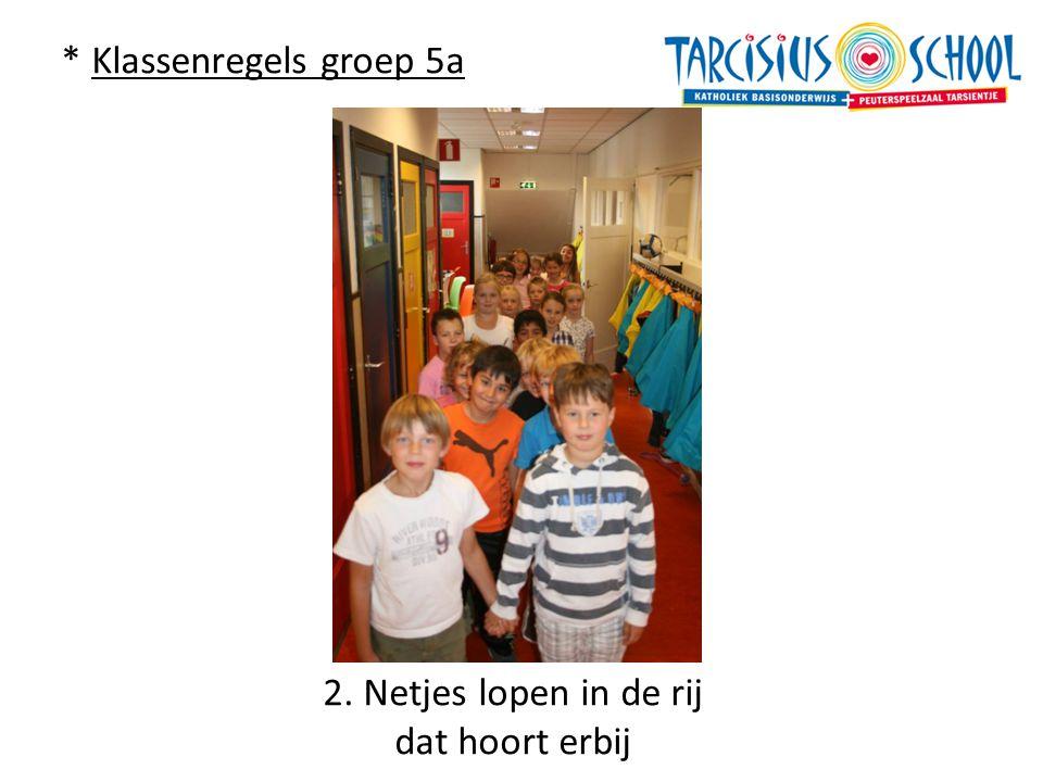 * Klassenregels groep 5a