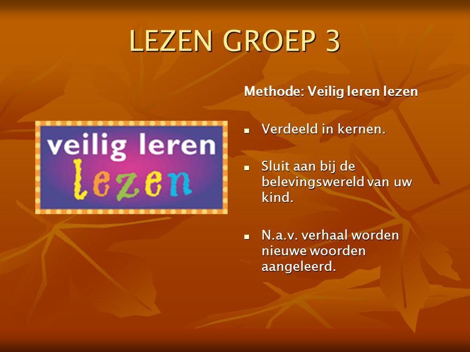 LEZEN GROEP 3 Methode: Veilig leren lezen Verdeeld in kernen.
