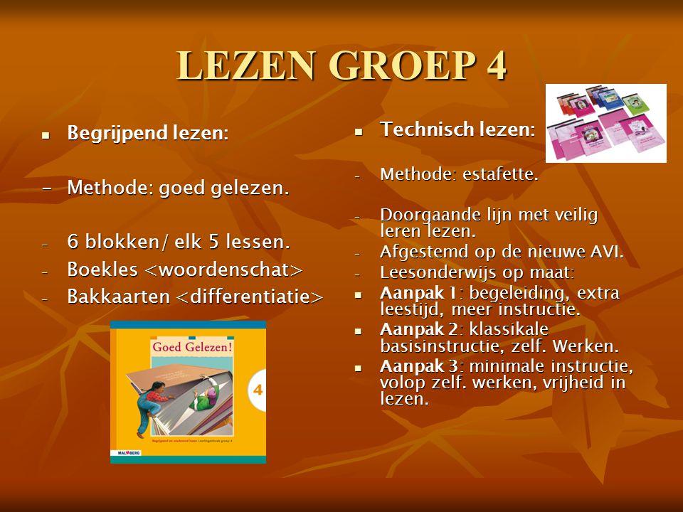 LEZEN GROEP 4 Begrijpend lezen: - Methode: goed gelezen.