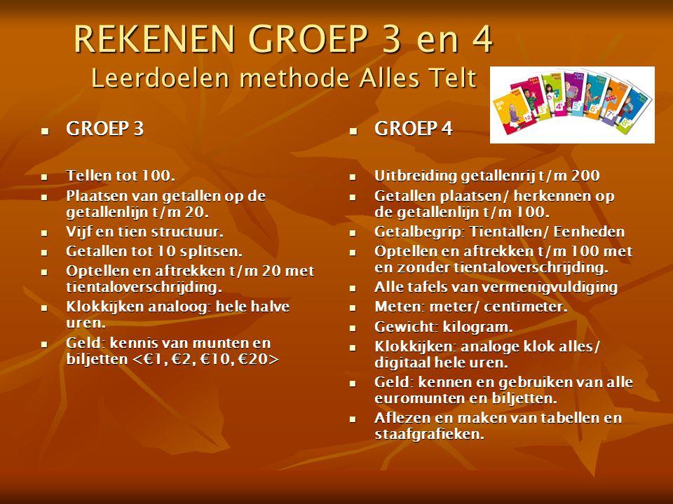 REKENEN GROEP 3 en 4 Leerdoelen methode Alles Telt
