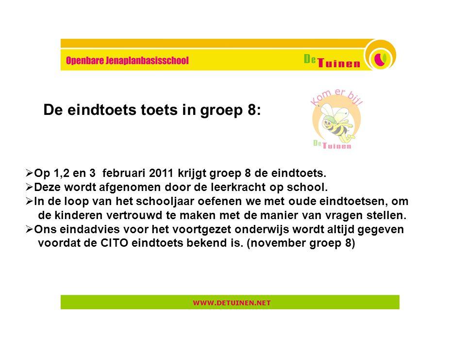 De eindtoets toets in groep 8: