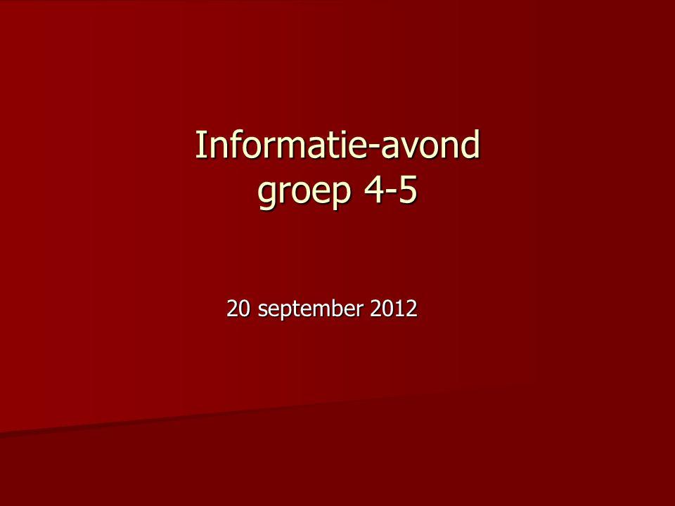 Informatie-avond groep 4-5