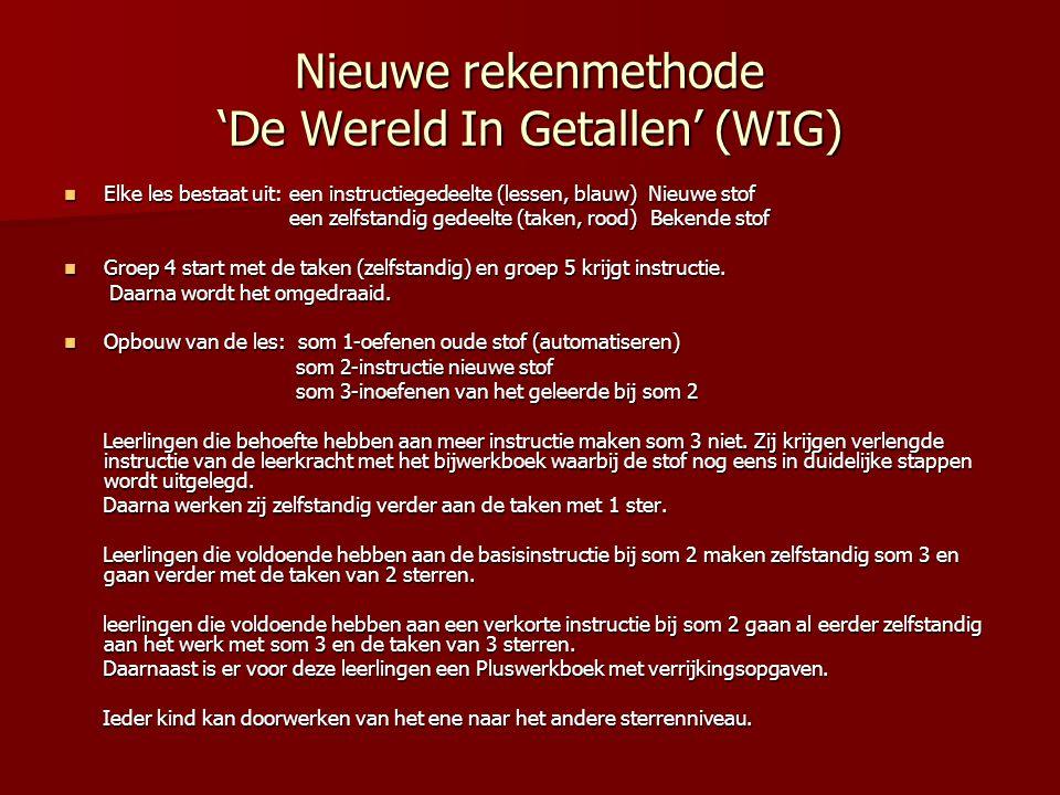 Nieuwe rekenmethode 'De Wereld In Getallen' (WIG)