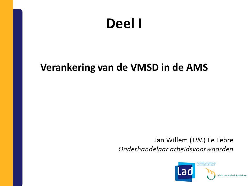 Verankering van de VMSD in de AMS
