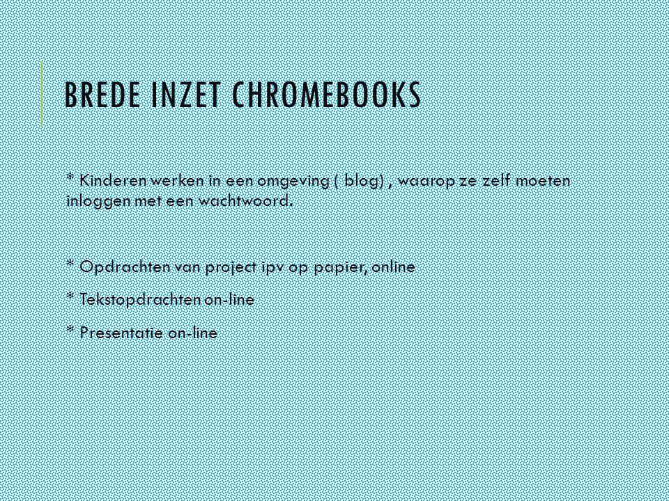 Brede inzet chromebooks