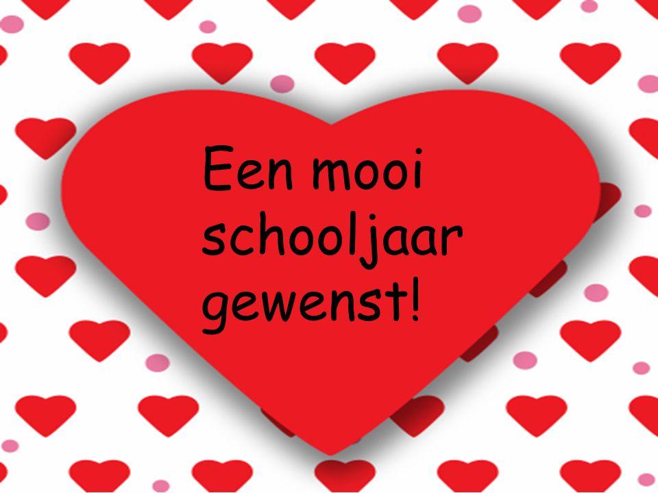 Een mooi schooljaar gewenst!