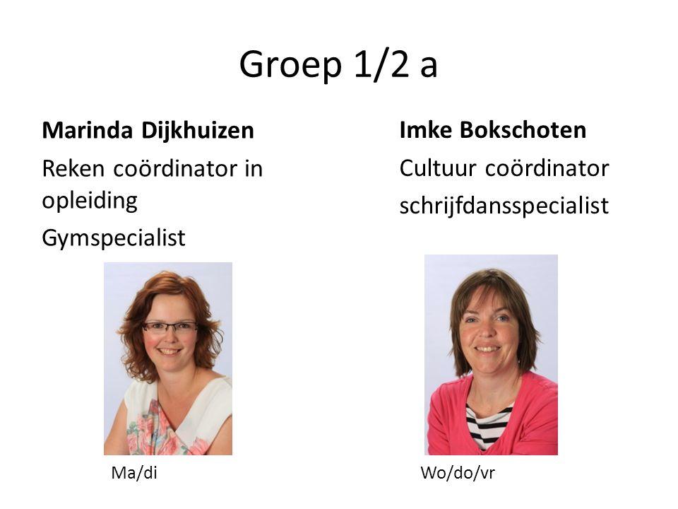 Groep 1/2 a Imke Bokschoten Cultuur coördinator schrijfdansspecialist