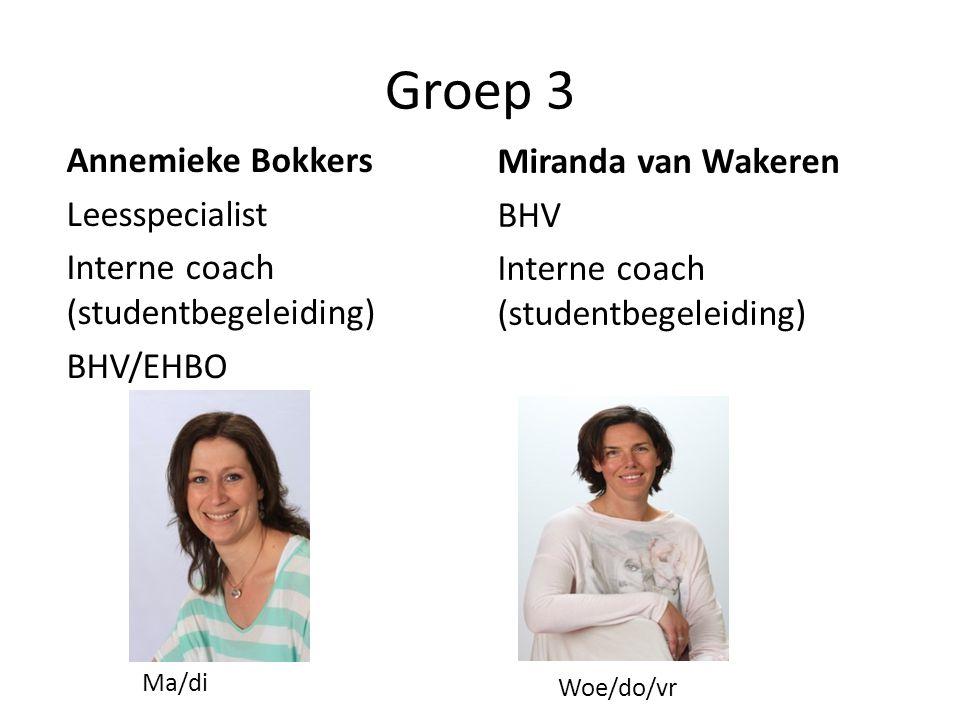 Groep 3 Miranda van Wakeren Annemieke Bokkers BHV Leesspecialist