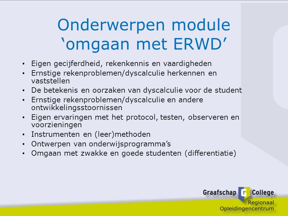 Onderwerpen module 'omgaan met ERWD'