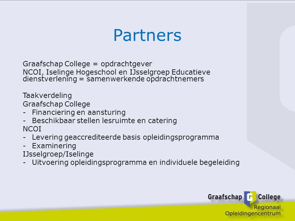 Partners Graafschap College = opdrachtgever