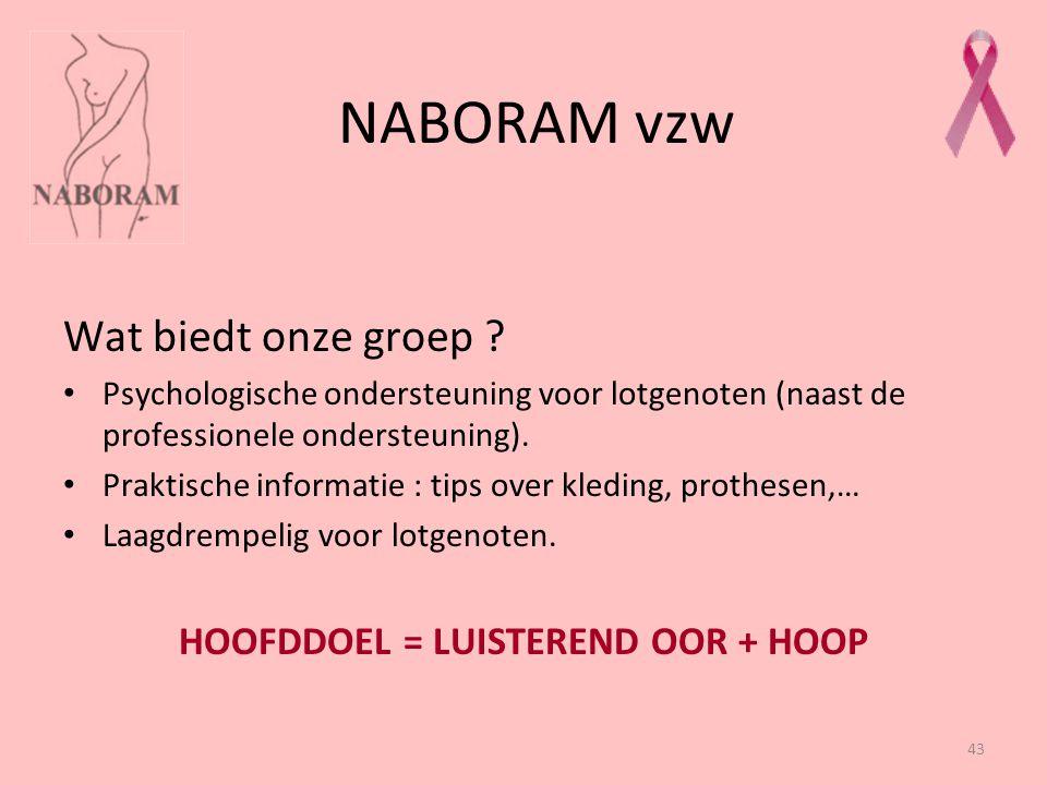 HOOFDDOEL = LUISTEREND OOR + HOOP