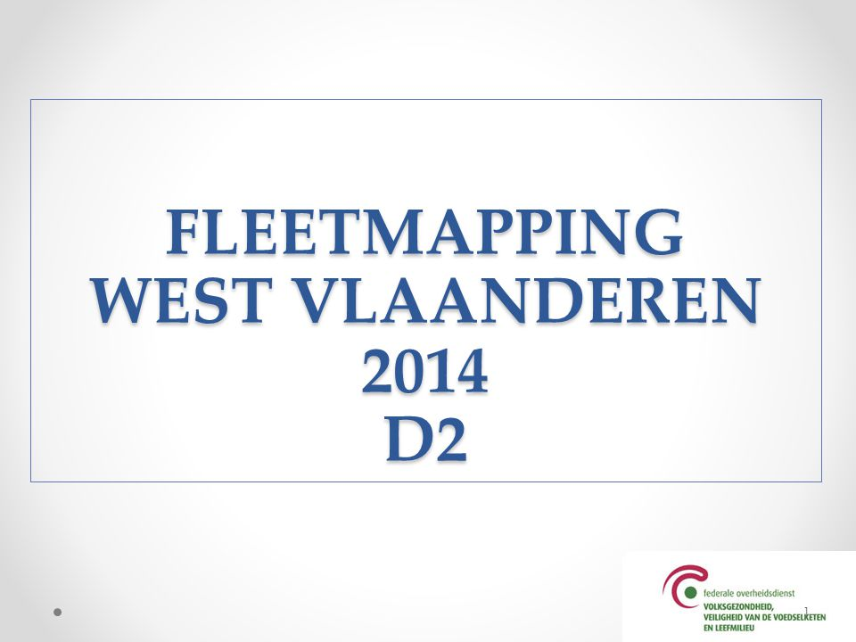 FLEETMAPPING WEST VLAANDEREN 2014 D2